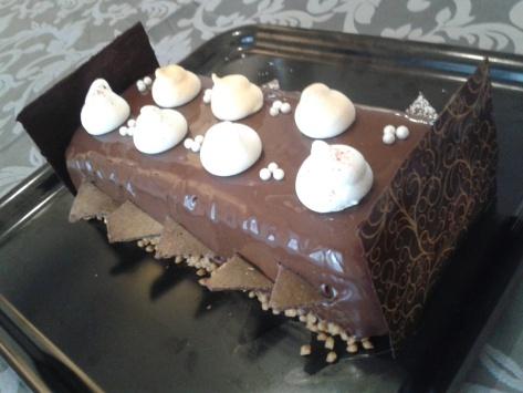 Bûche chocolat noir Passion